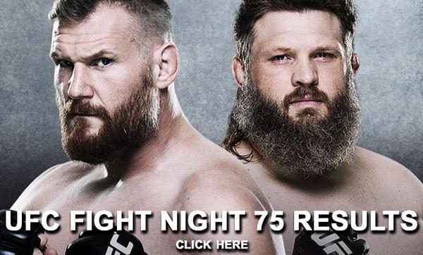 UFC Fight Night 75 Results