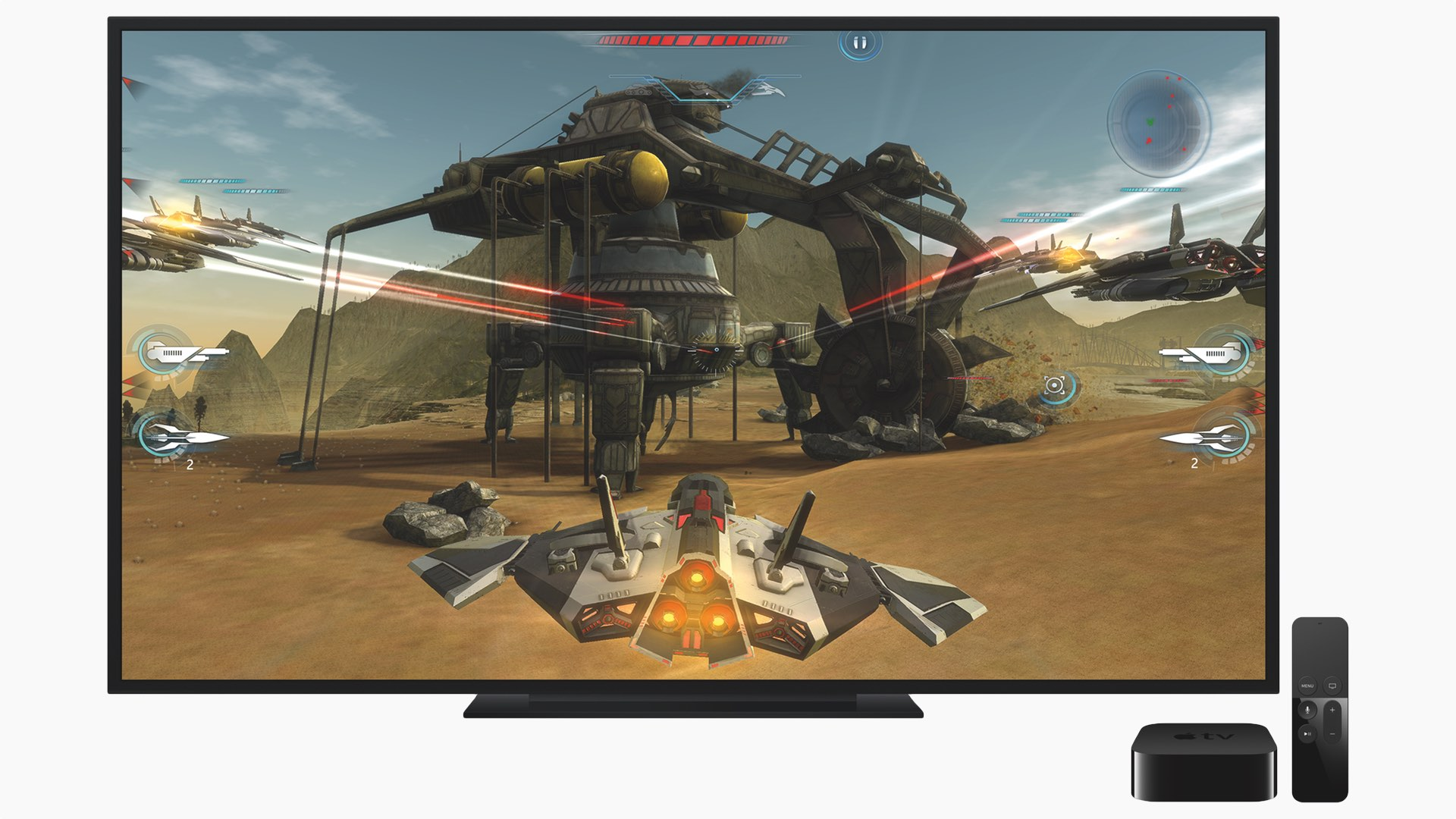 The new Apple TV, its remote and some TV gaming