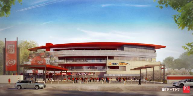 PNC Arena south entrance rendering