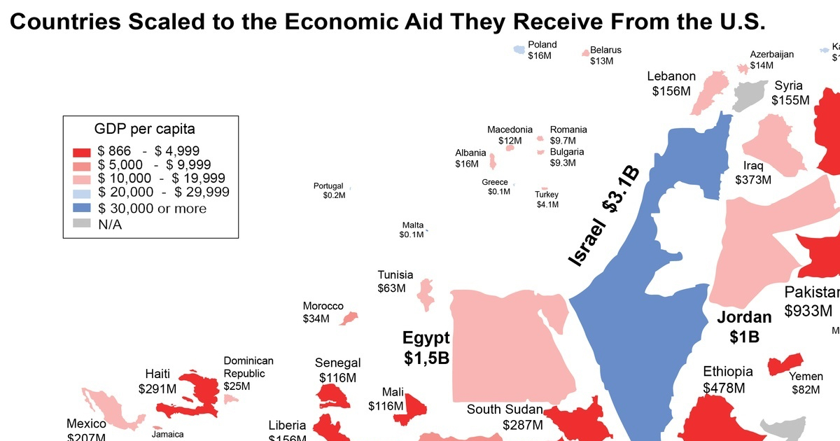 This Map Should Change The Way You Think About Foreign Aid Vox - Us foreign aid map