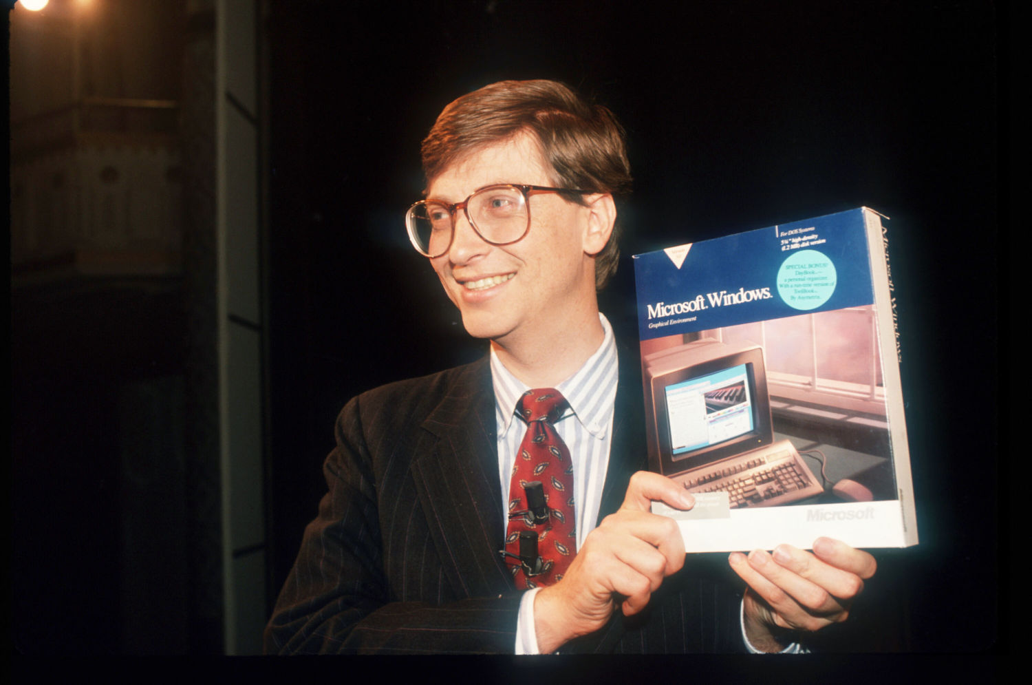 Image result for bill gates introducing windows
