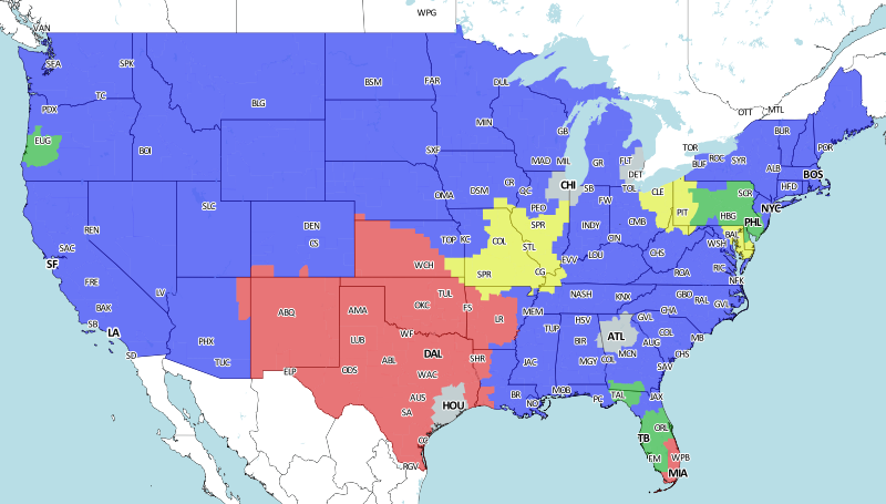 St. Louis Rams At Baltimore Ravens: NFL Week 11 Broadcast Map - Turf ...