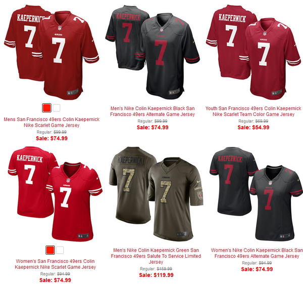 49ers put Colin Kaepernick merchandise on sale, only player to have  OInbdZvD