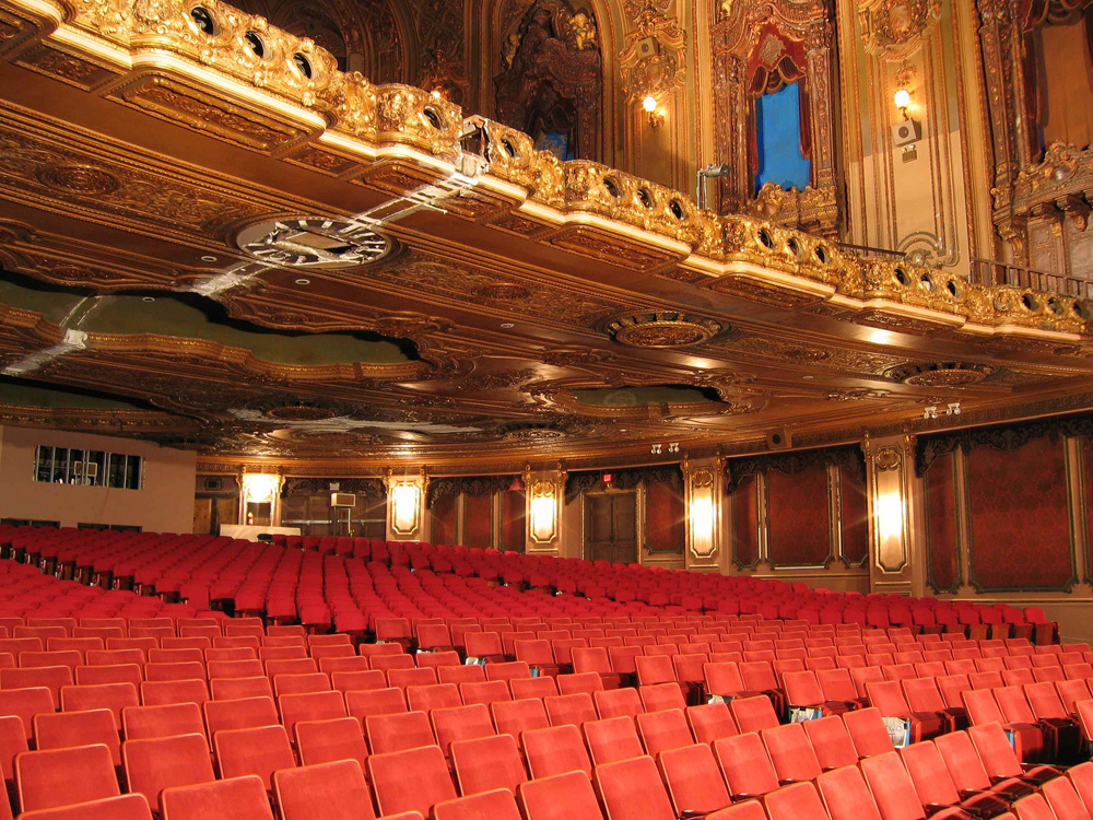 the loews jersey auditorium after its restoration photo courtesy friends of the loews art deco box office loew