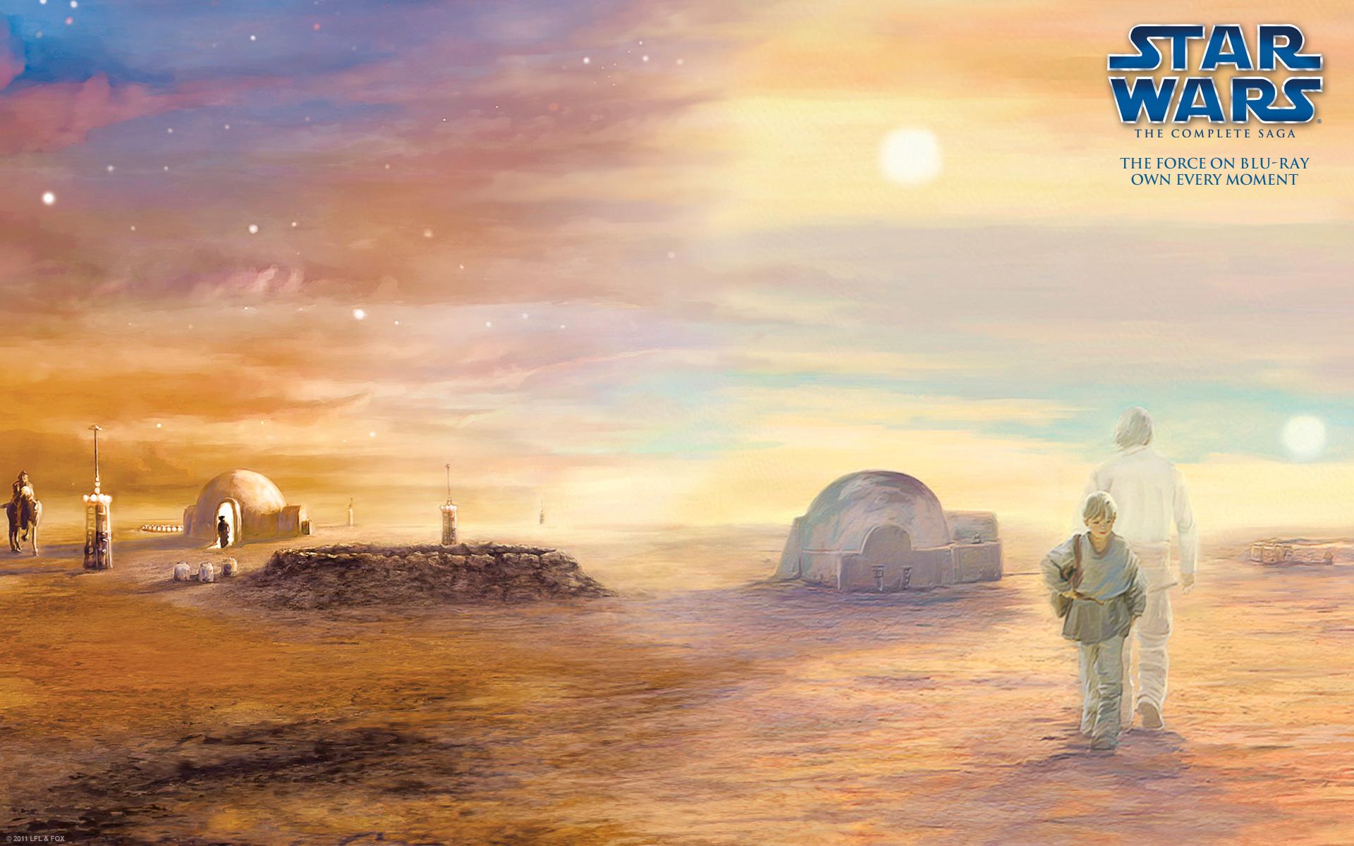 The Star Wars Blu-ray box set artwork