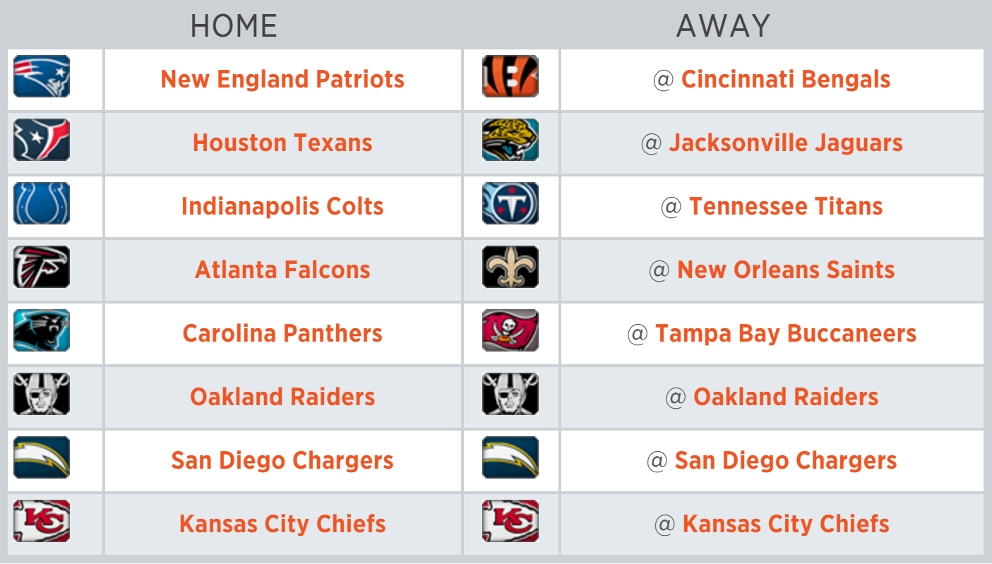 broncos 2016 schedule opponents finalized mile high report