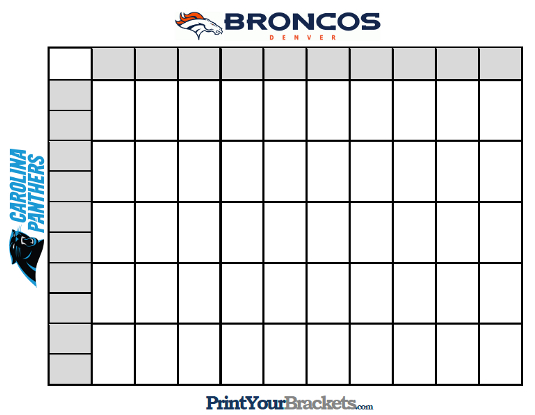 Super bowl grid odds autos post for Block pool template