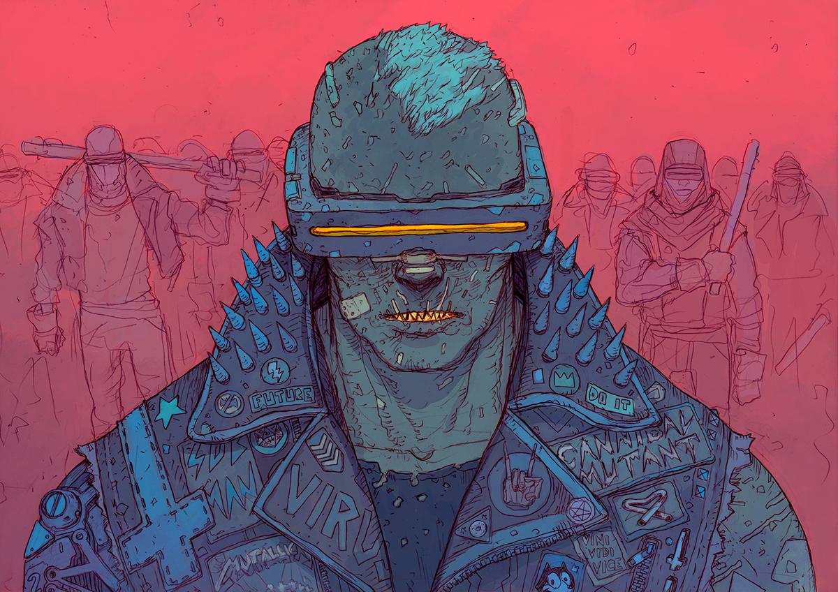 80s Design The Bleak And Charming Cyberpunk Art Of Josan Gonzalez