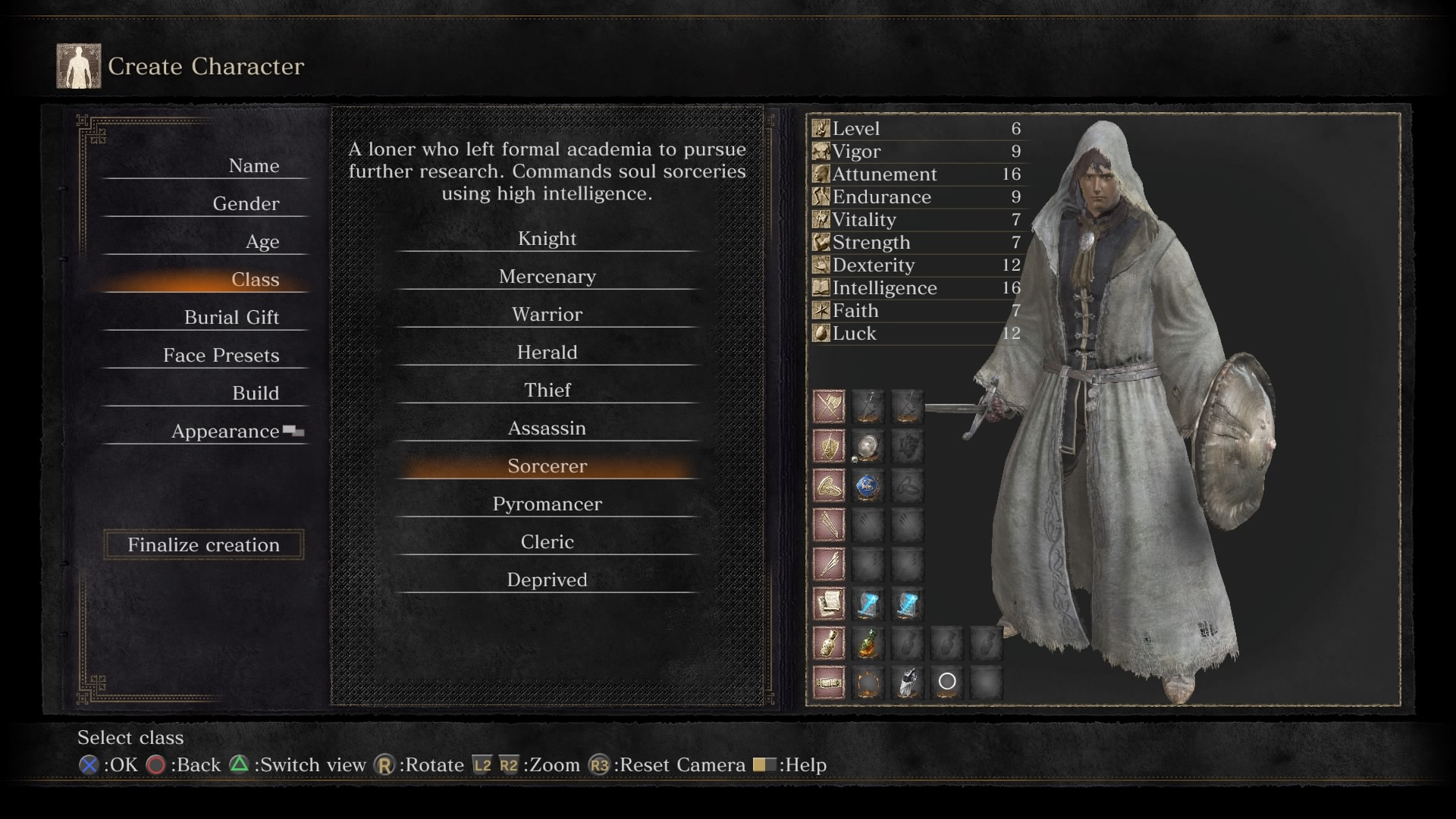 Dark Souls  Good Sorcerer Build
