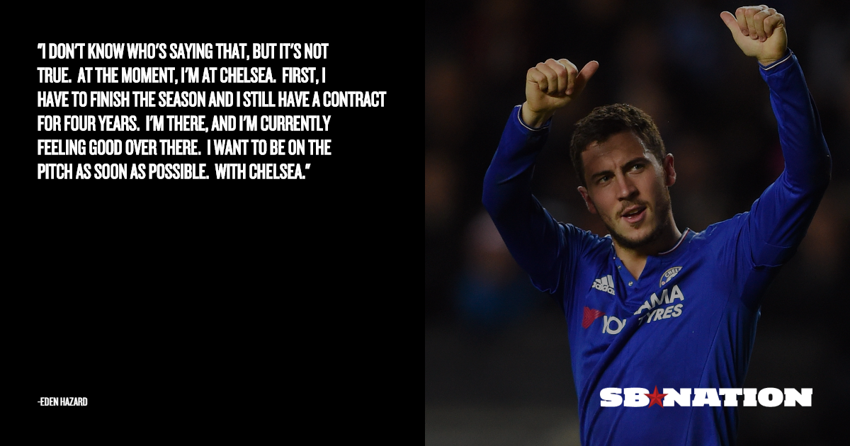 Quotes About Rumors Eden Hazard on Real Ma...