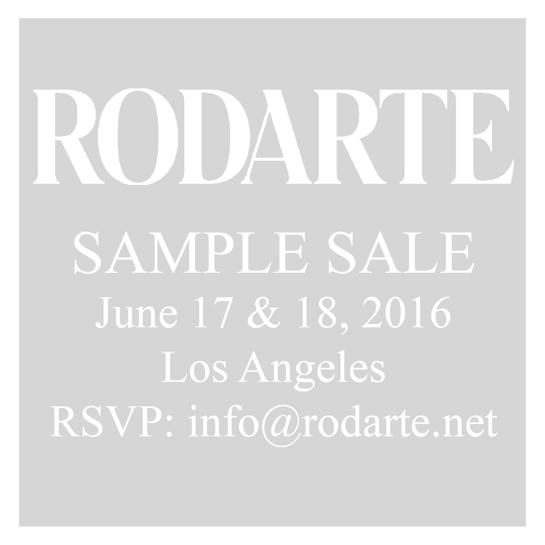 sample sale flyer rodarte s two day la sample starts this friday ...