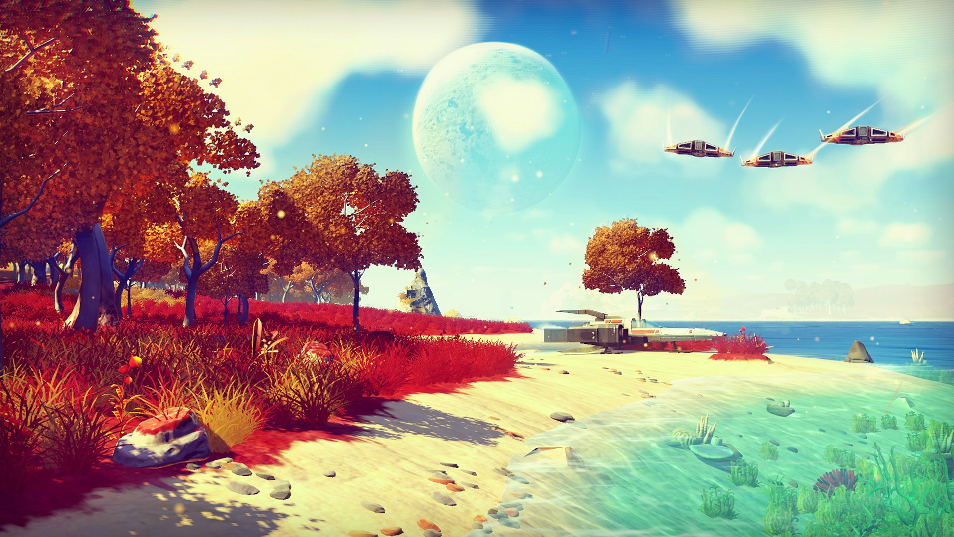 Game with watercolor - One Of The Most Highly Anticipated Games Of The Year No Man S Sky Is A Massive Open Ended Space Exploration Game That Promises An Unlimited Universe Of
