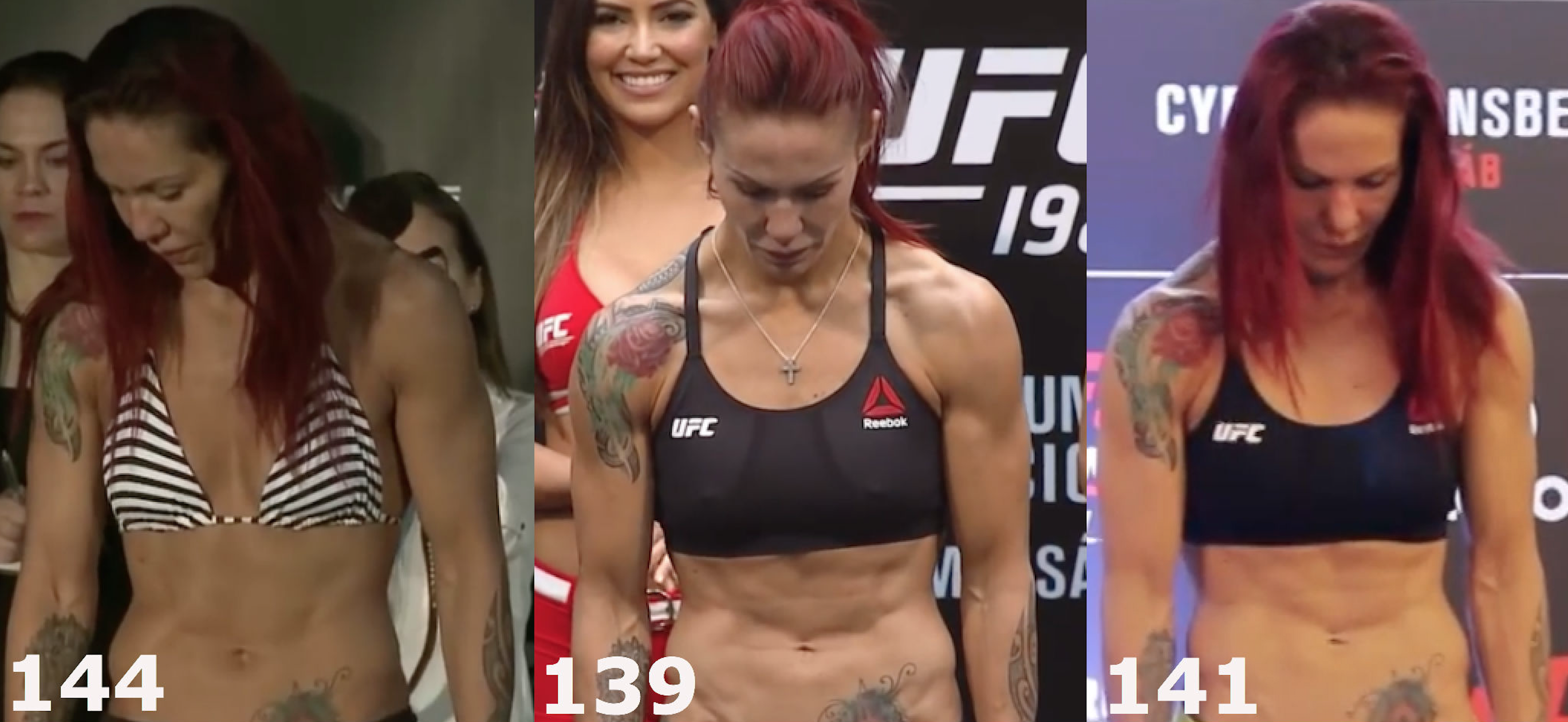 Side-by-side pic: Cris Cyborg before and after brutal ...