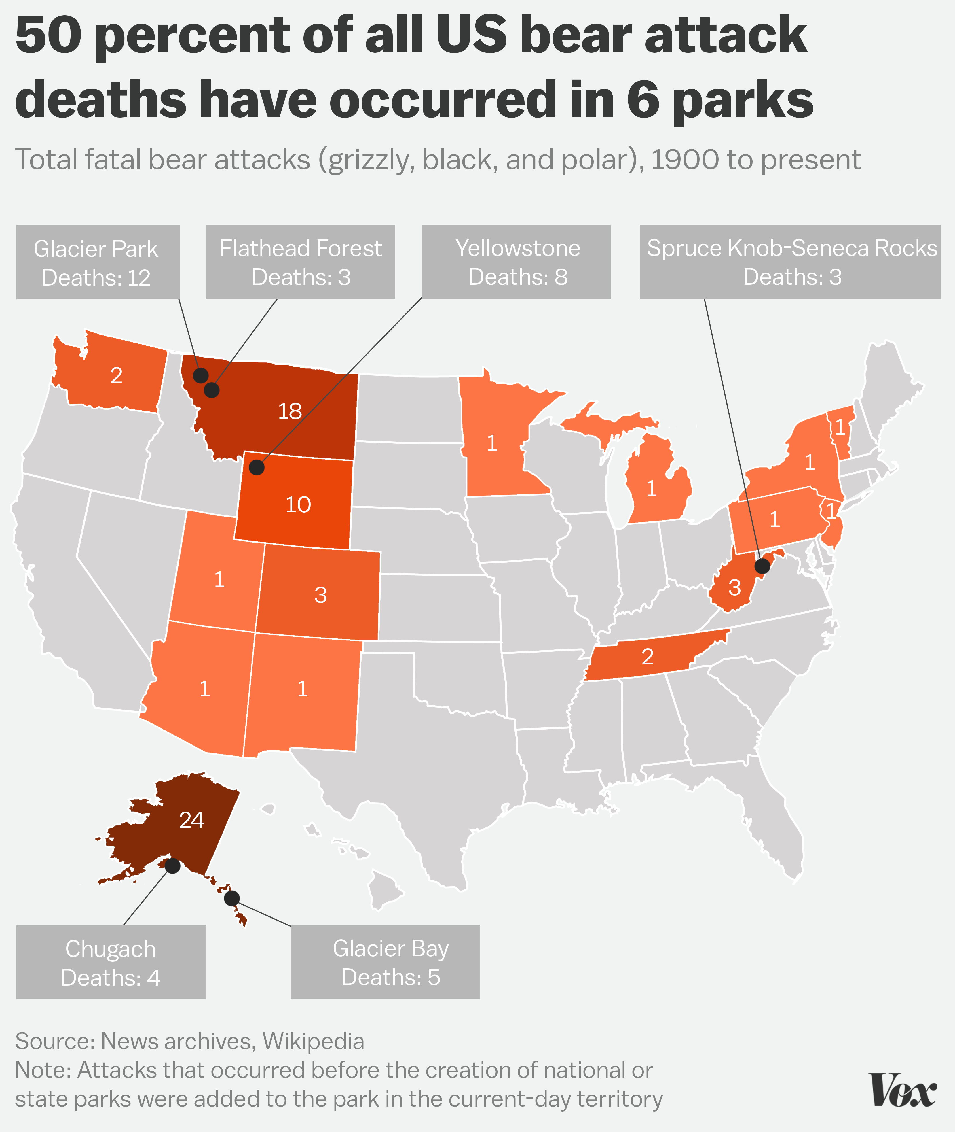 The Parks Where You Re Most Likely To Be Killed By A Bear Vox