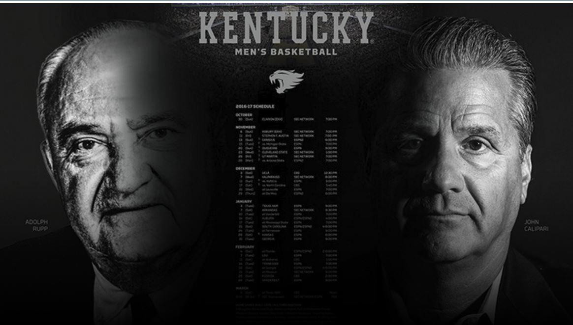 Uk Basketball Schedule: Kentucky Wildcats Basketball 2016 17 Schedule Wildcats