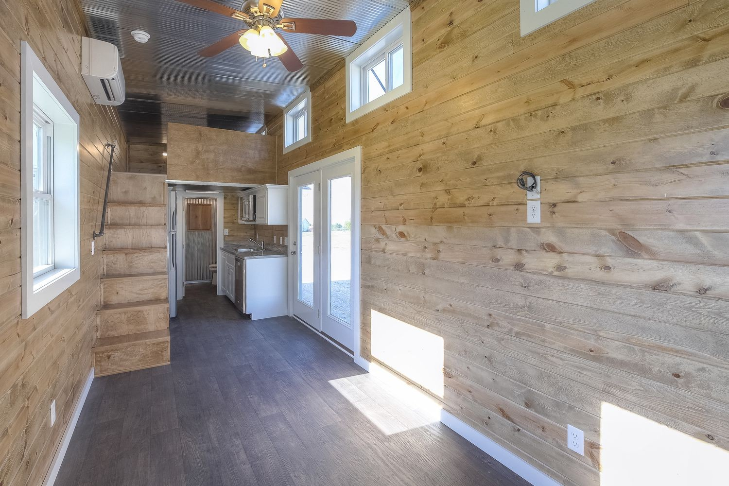 Slick tiny house converted from 40 foot shipping container Containers turned into homes