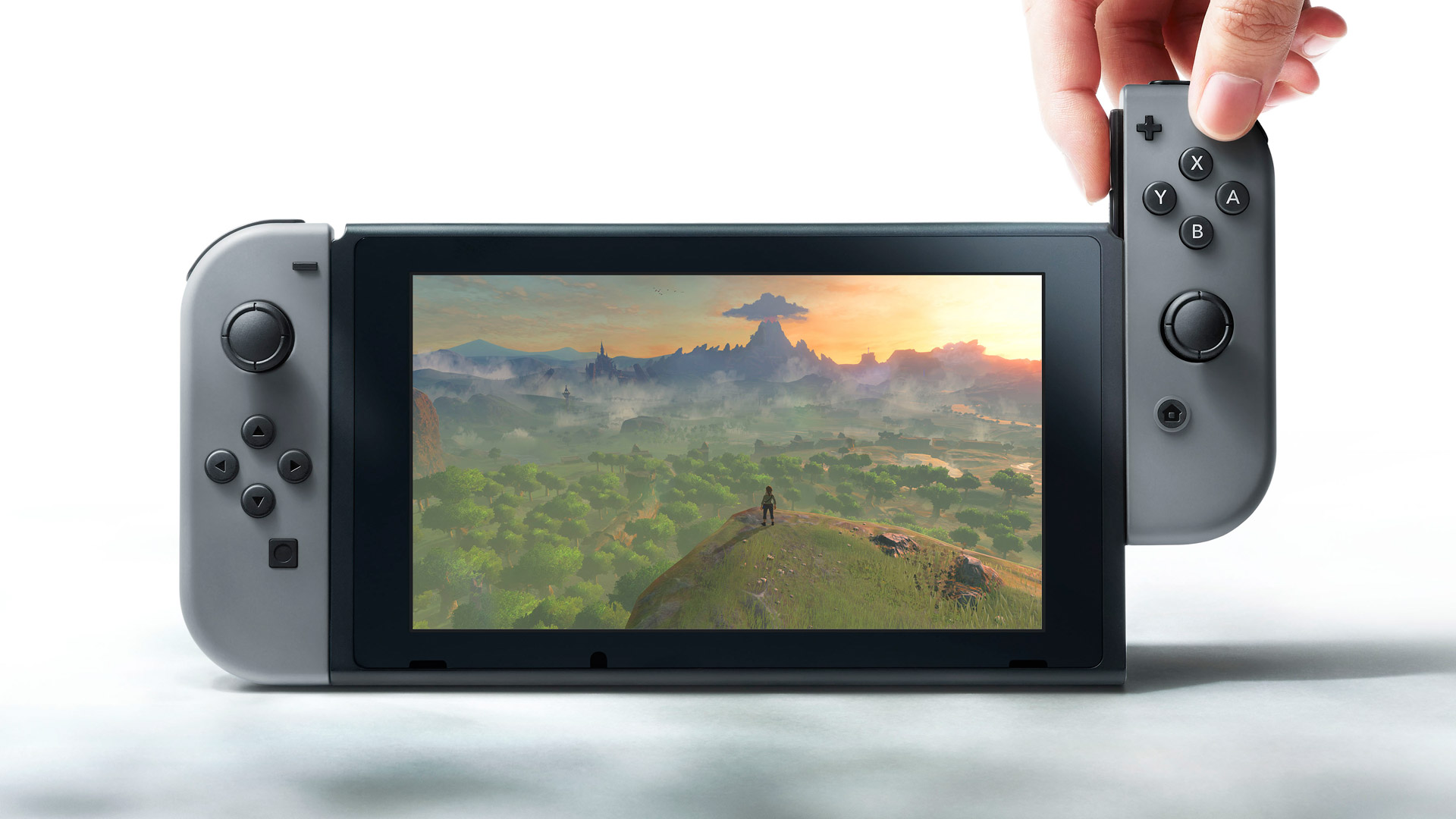 The new Nintendo Switch, which includes detachable controllers, will be released in March 2017. (Image courtesy of polygon.com)