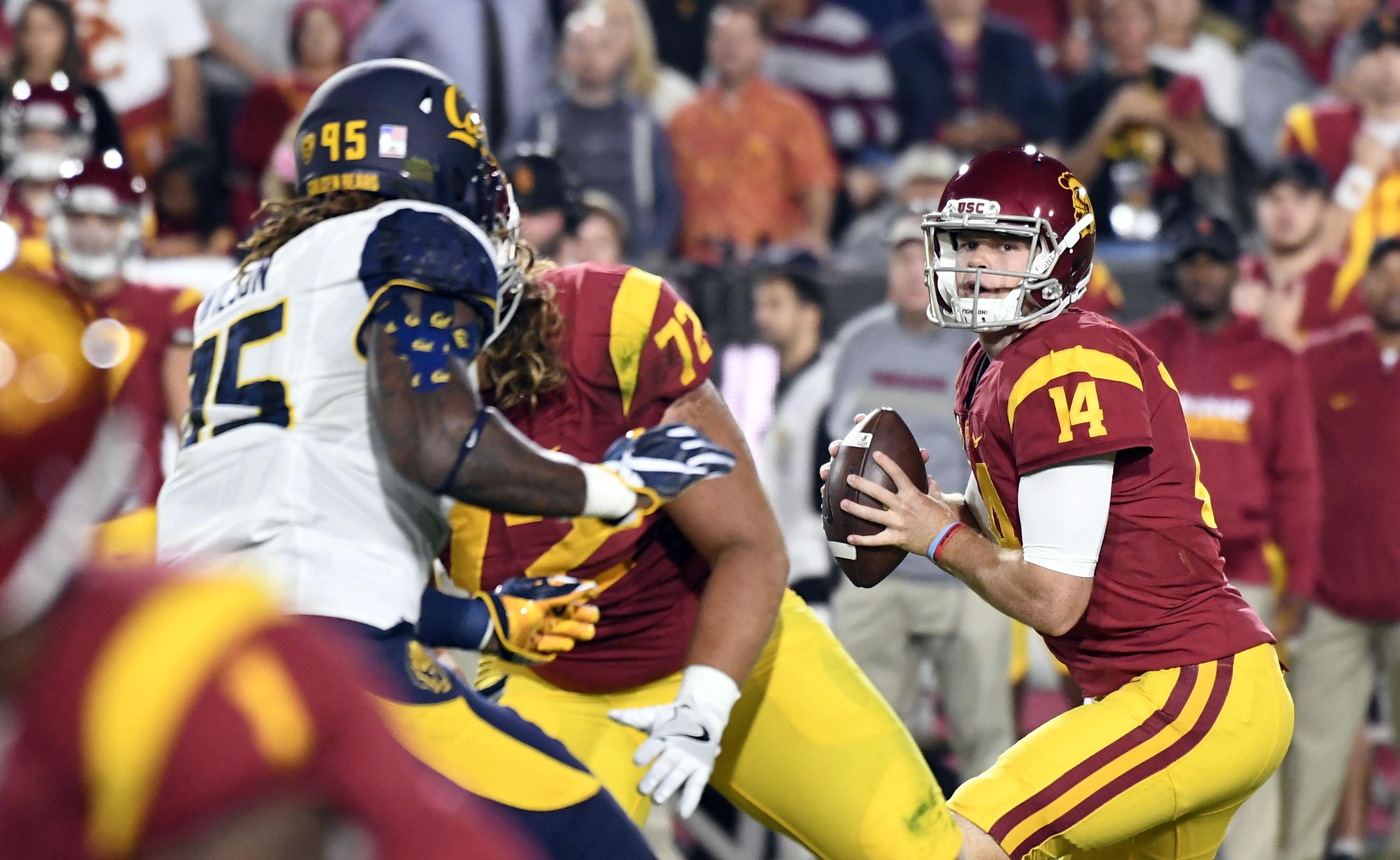 Jones, Darnold power USC to 45-20 win over Oregon