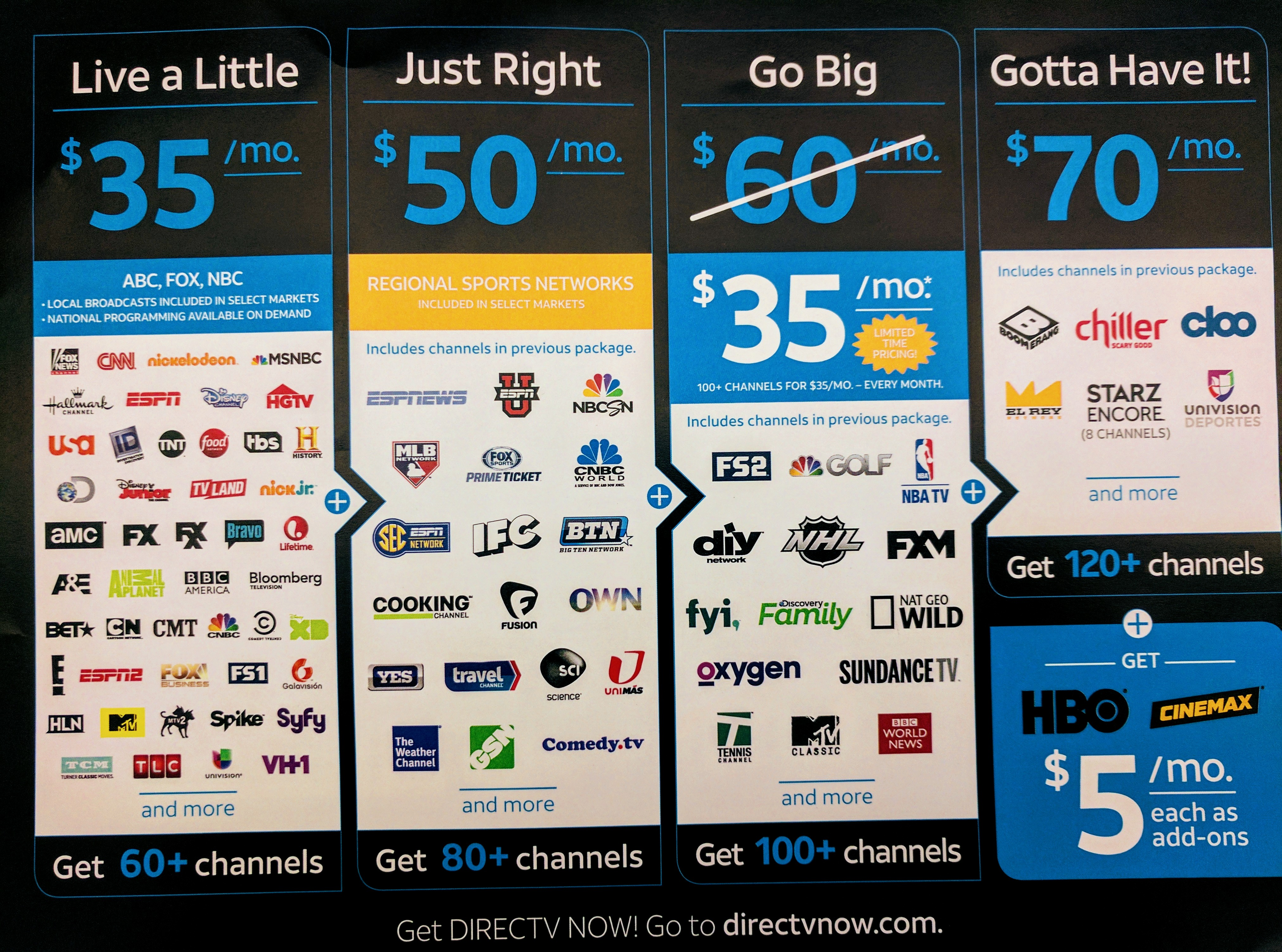 AT&T's DirecTV Now launches November 30th with over 100 channels ...