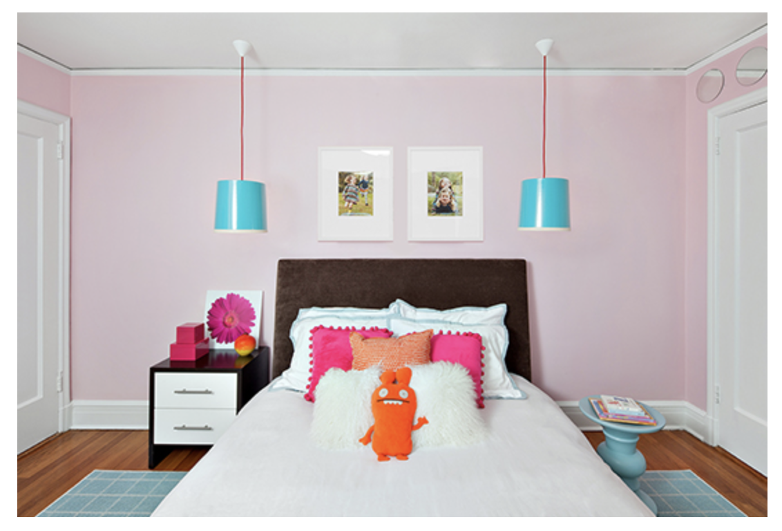 Pink bedroom paint colors - Light Pink Girl S Bedroom