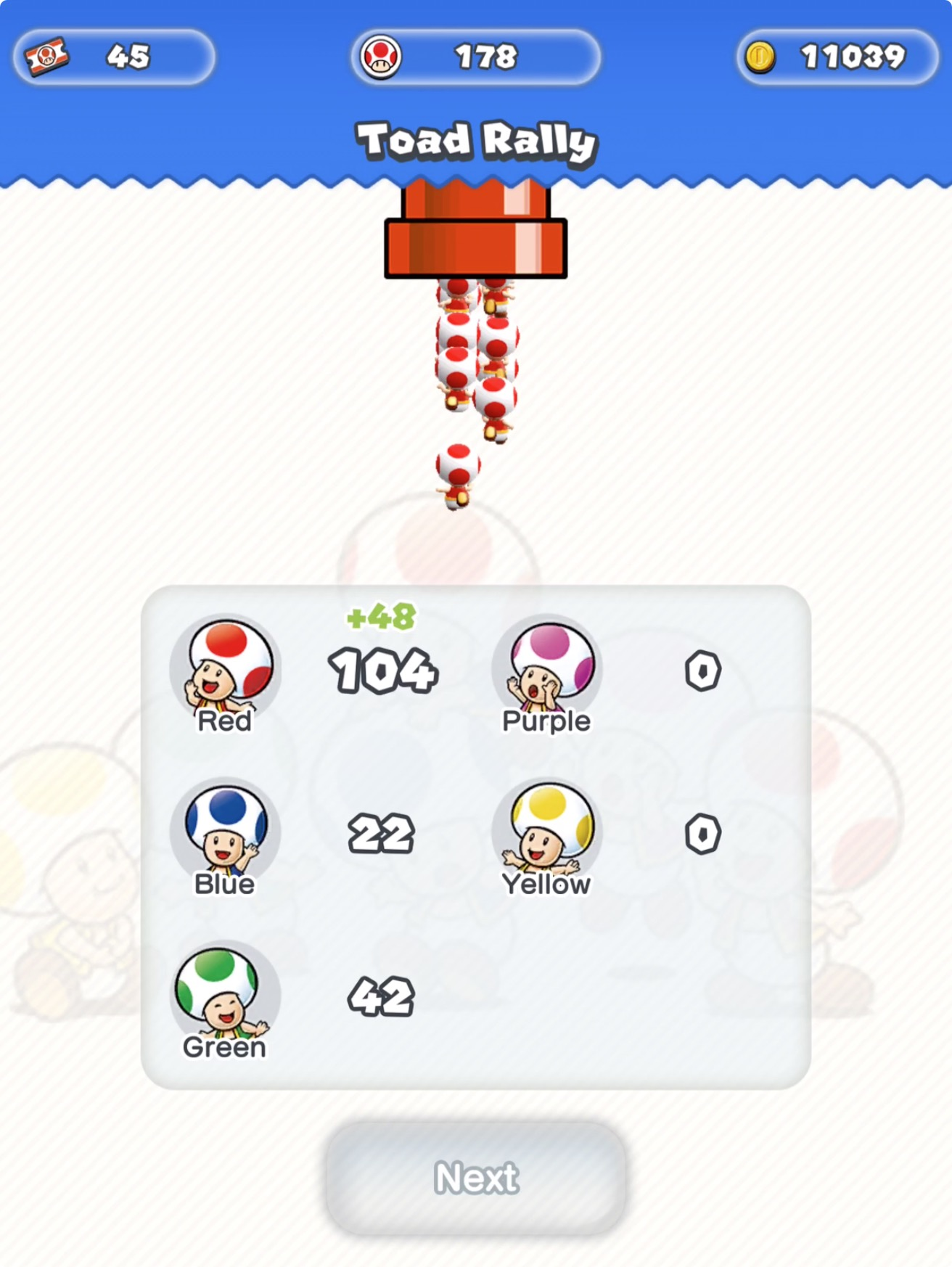how to get toad in mario run