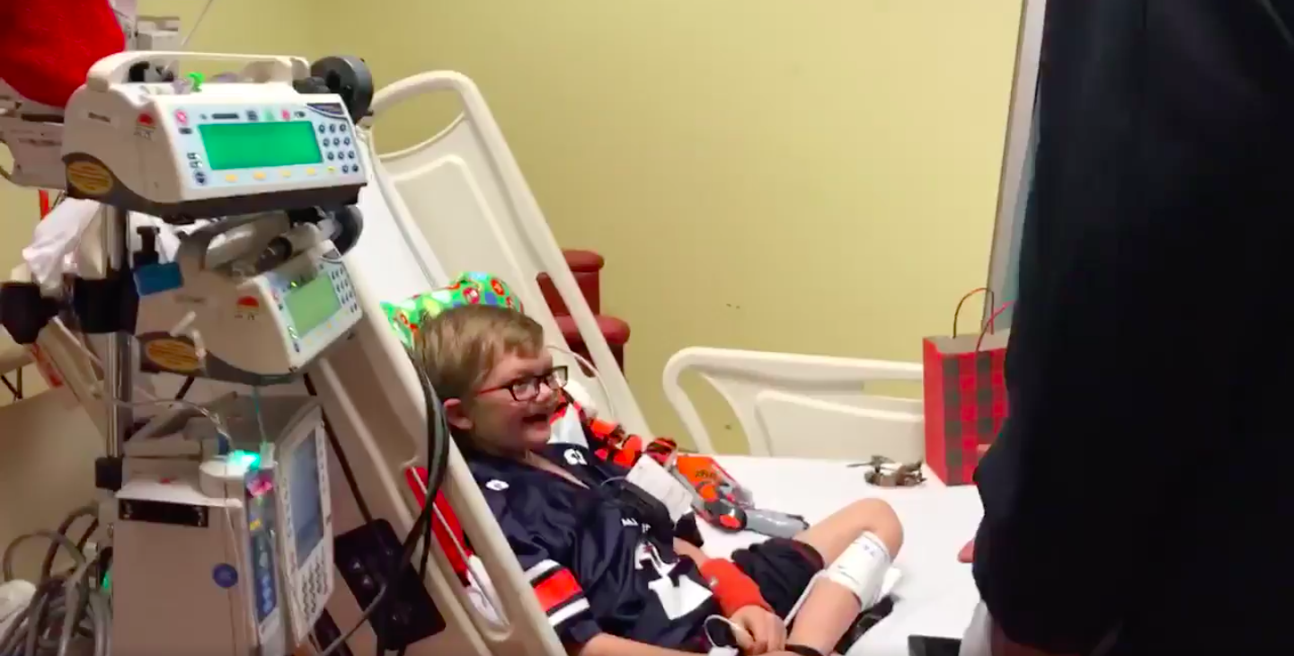 Cam's Big Heart Makes Sick Boy's Wish Come True