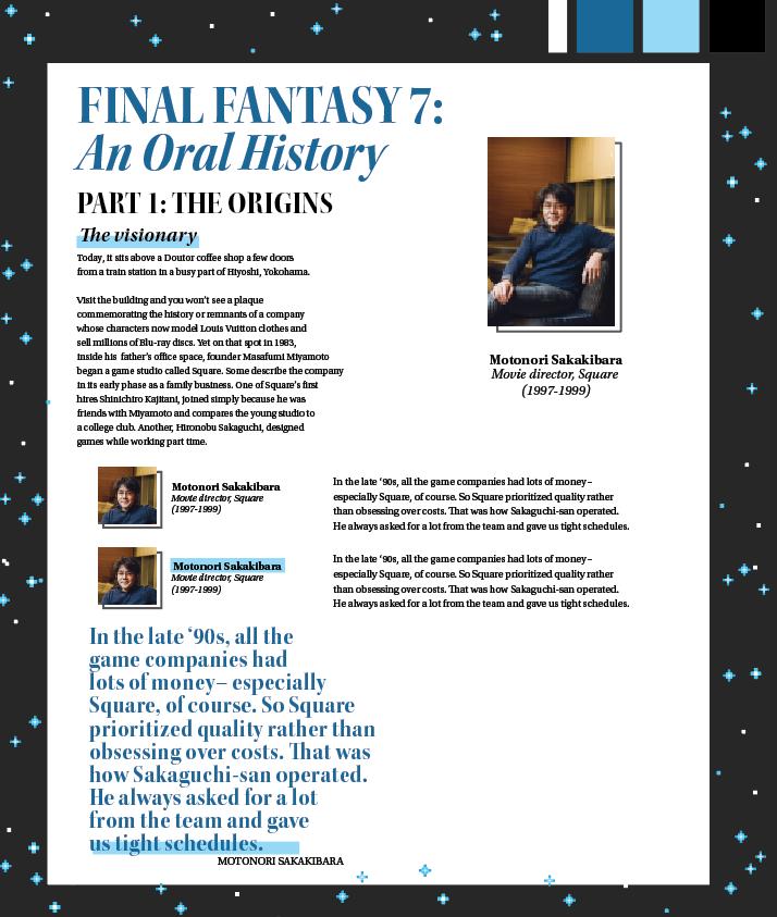 How we designed Polygon's Final Fantasy 7 oral history ...