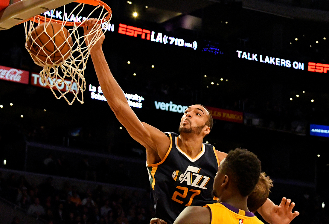 aaf8b260a78ab6 Gobert has been anything but fragile this season. He s started every game  for Utah -- the only member of the starting five to do so -- and has  emerged as ...
