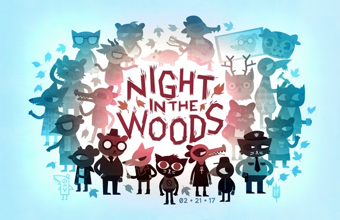 Night in the Woods release date artwork