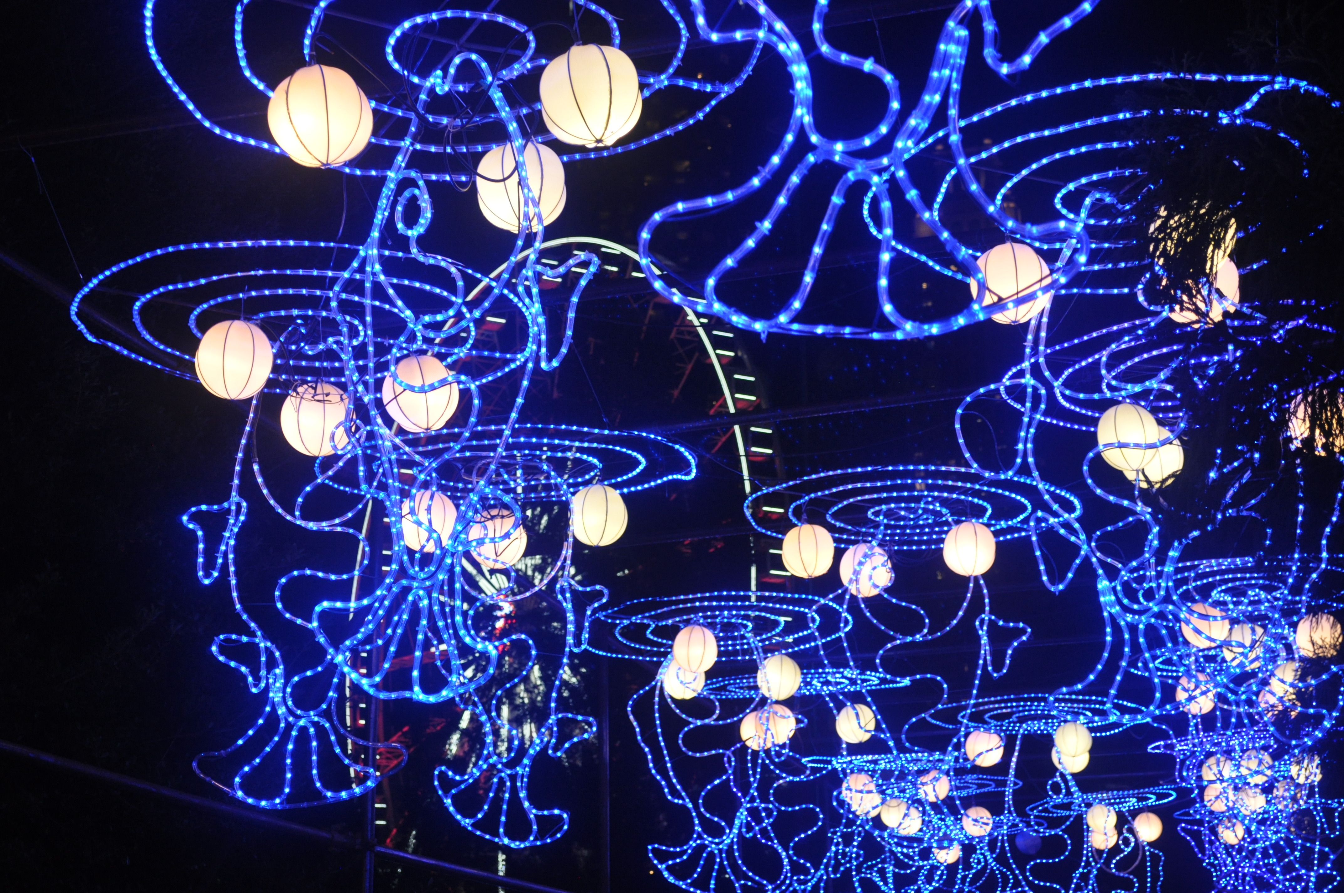 photos downtown atlanta lights up with chinese lantern festival