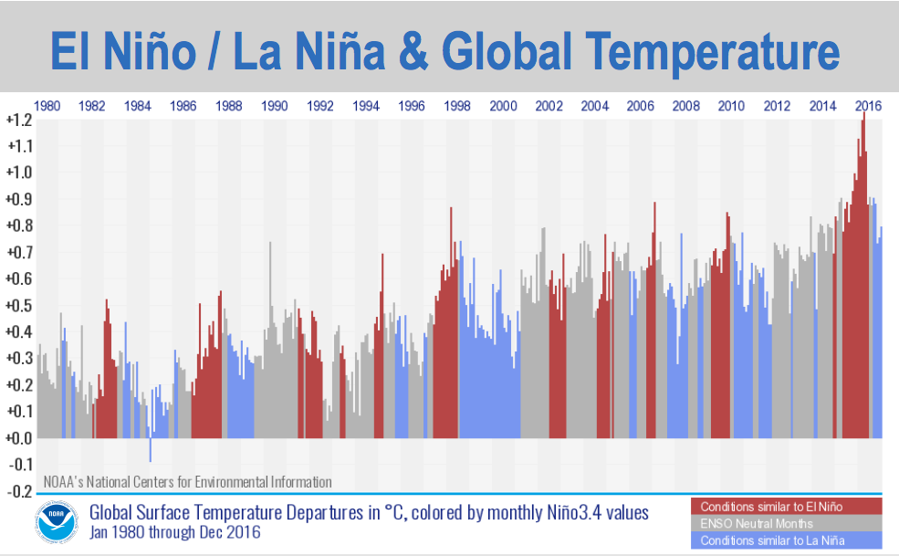 The 3 graphics showing how 2016 was the warmest year on record