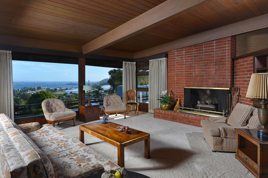 photo via zillow - Mid Century Living Rooms