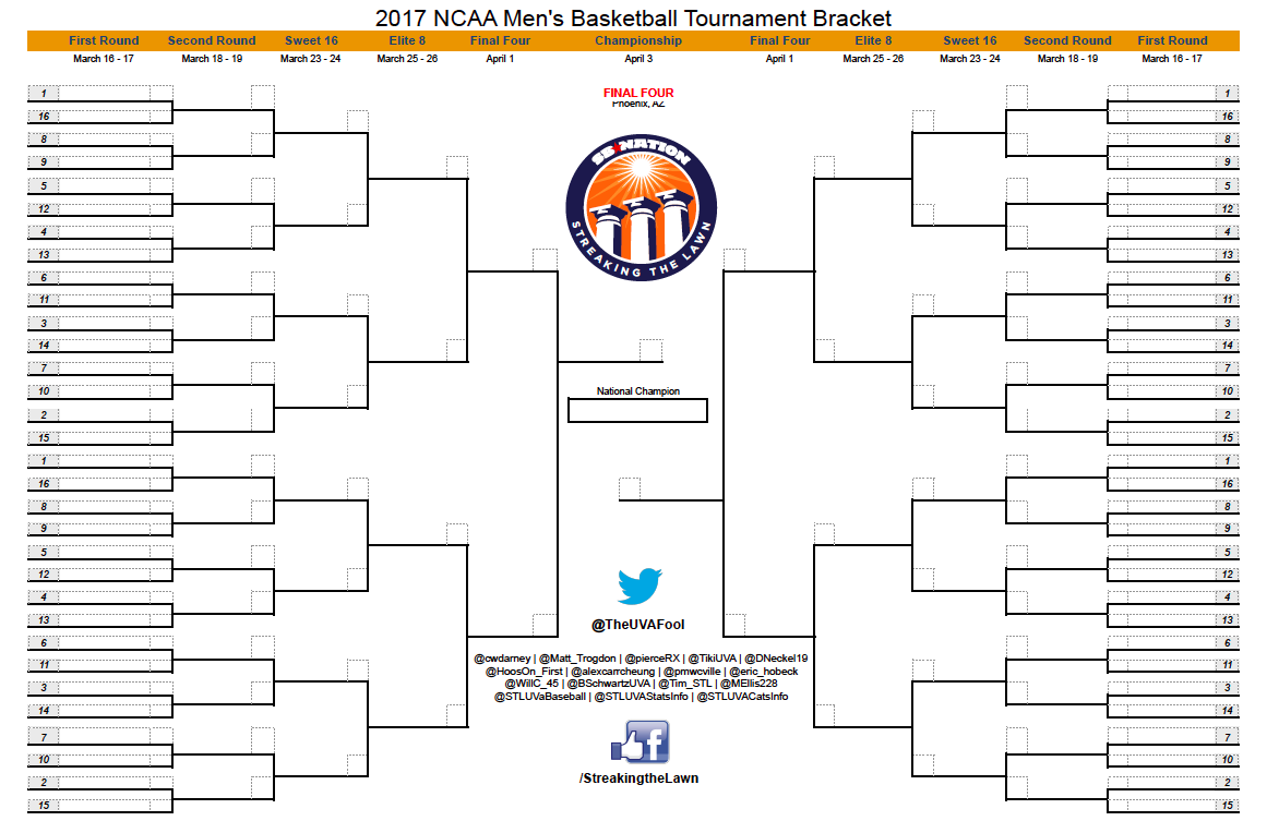 printable march madness bracket - photo #2