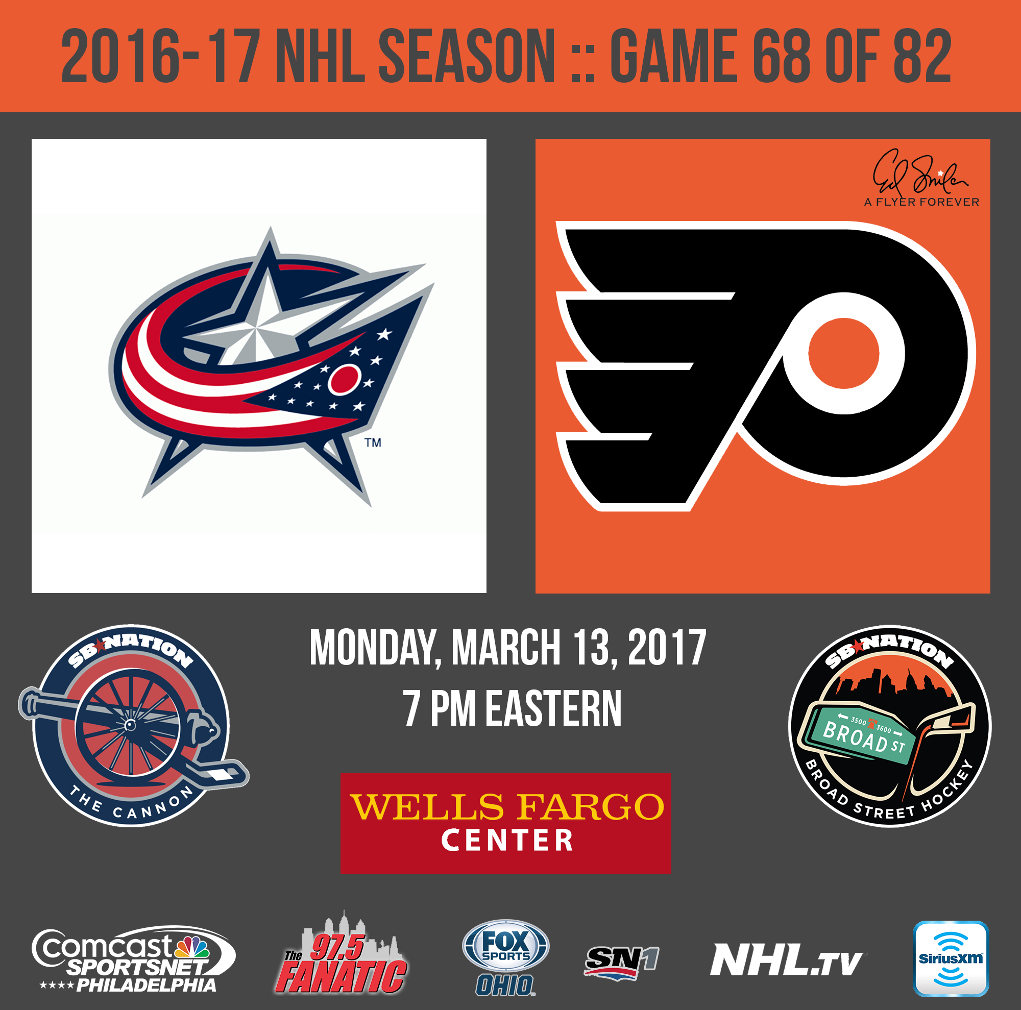 Flyers vs. Blue Jackets: Lineups starting goalies TV and live