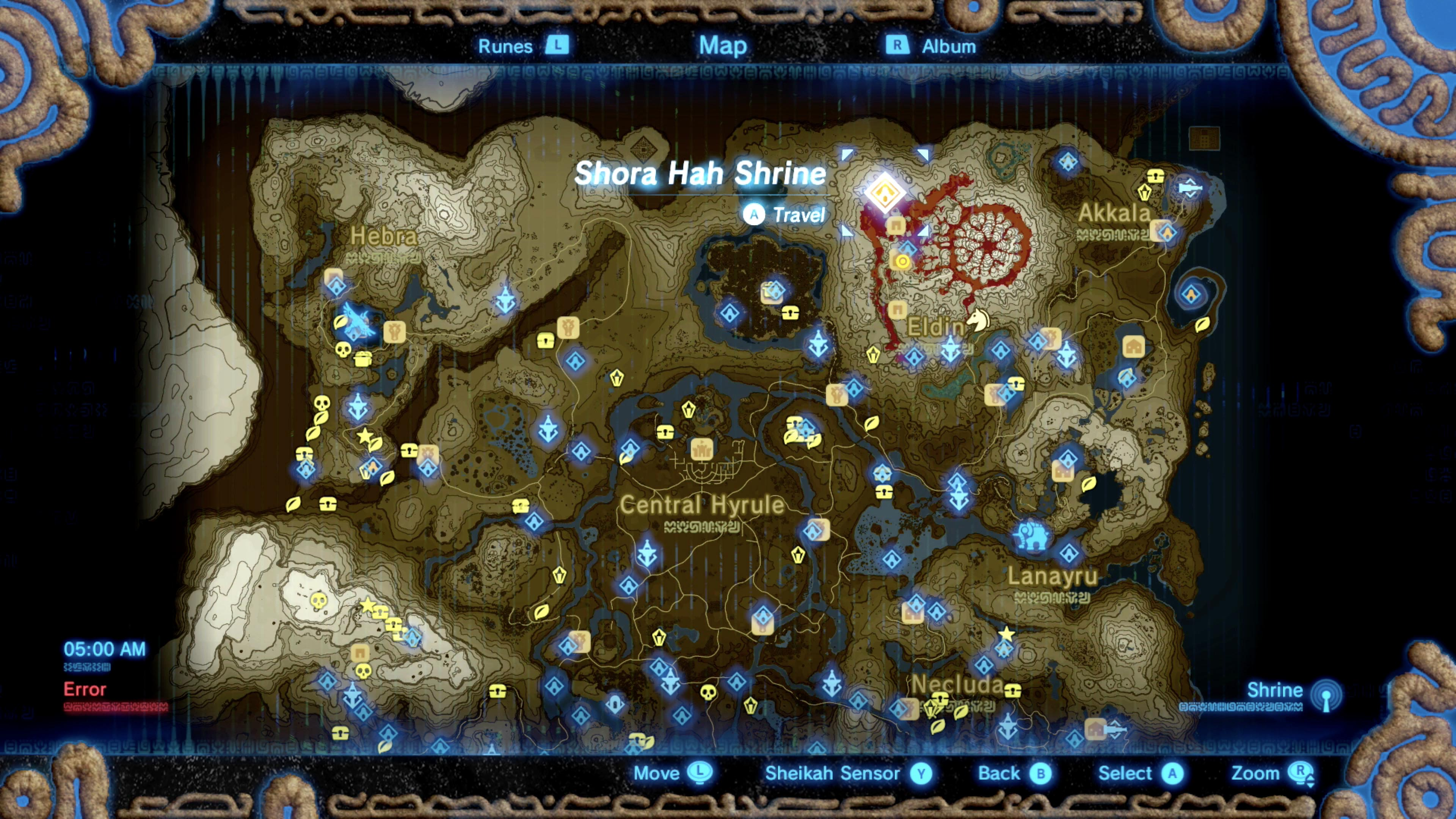 How to find Shora Hah shrine