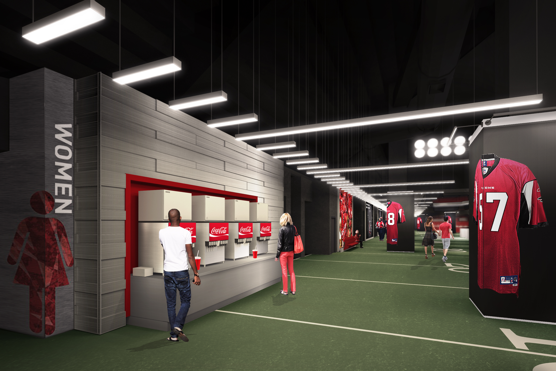 Renderings mercedes benz stadium s 100 yard club curbed for Club level mercedes benz stadium