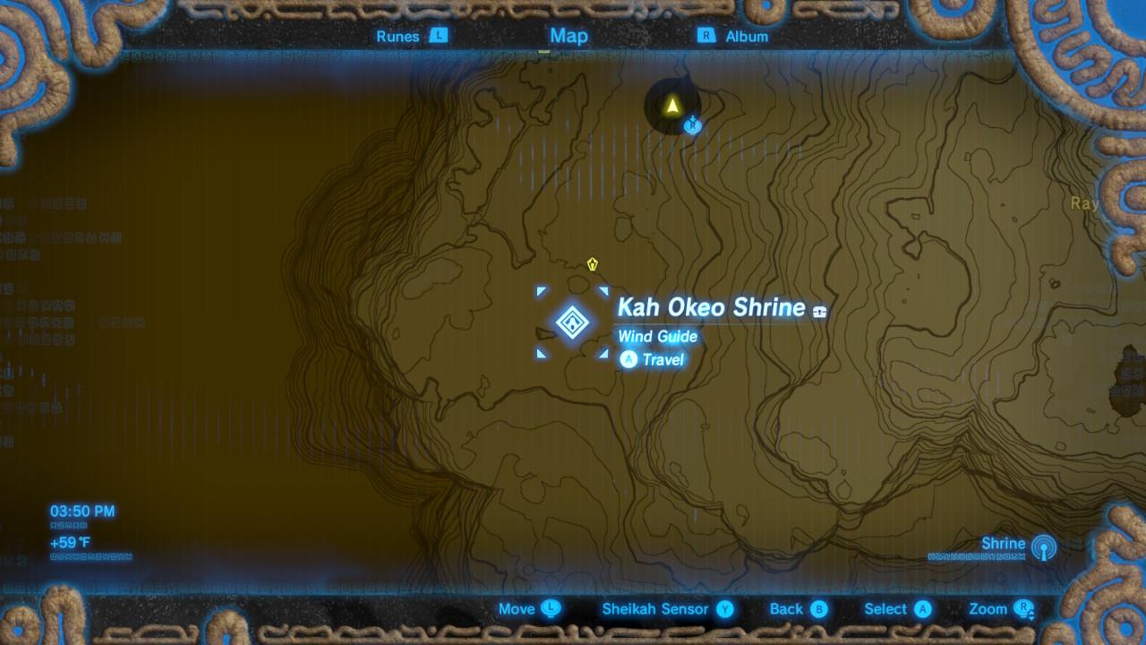 Zelda: Breath of the Wild guide: Kah Okeo shrine location ...