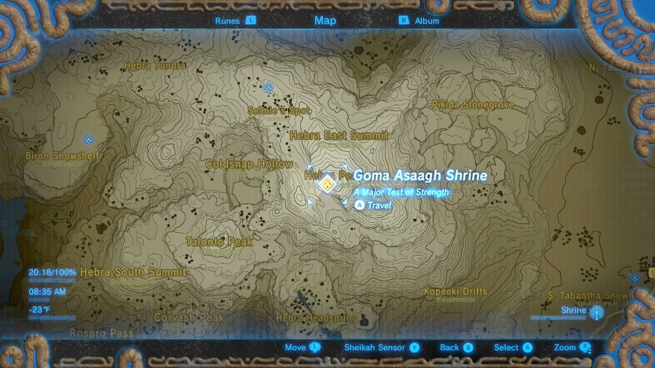 Zelda Botw Shrine Map >> Zelda: Breath of the Wild guide: Goma Asaagh shrine location, treasure and puzzle solutions ...