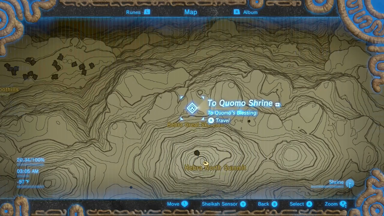 Breath Of The Wild Schreine Karte.Zelda Breath Of The Wild Guide To Quomo Shrine Location Treasure