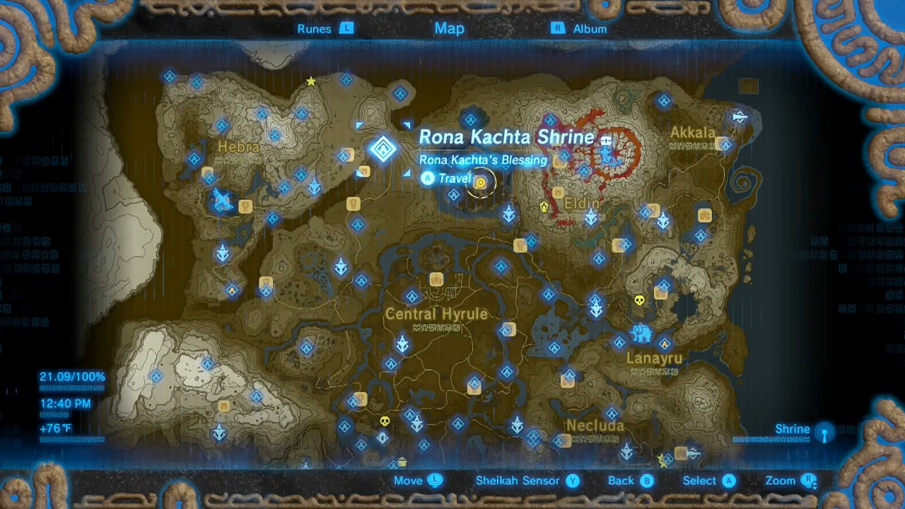 how to find rona kachta shrine