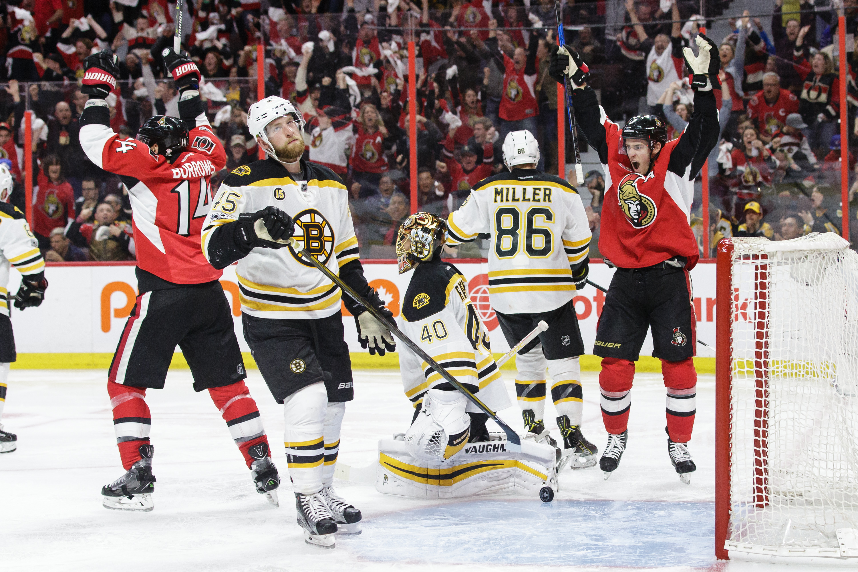 Tip-in by Ryan lifts Senators over Bruins 4-3 in overtime