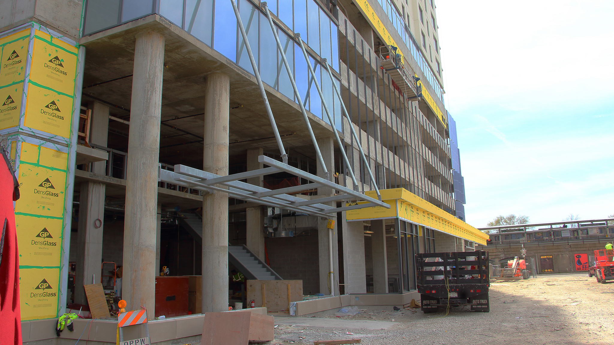 Oak Park S Latest Apartment High Rise Tops Out And Gets A