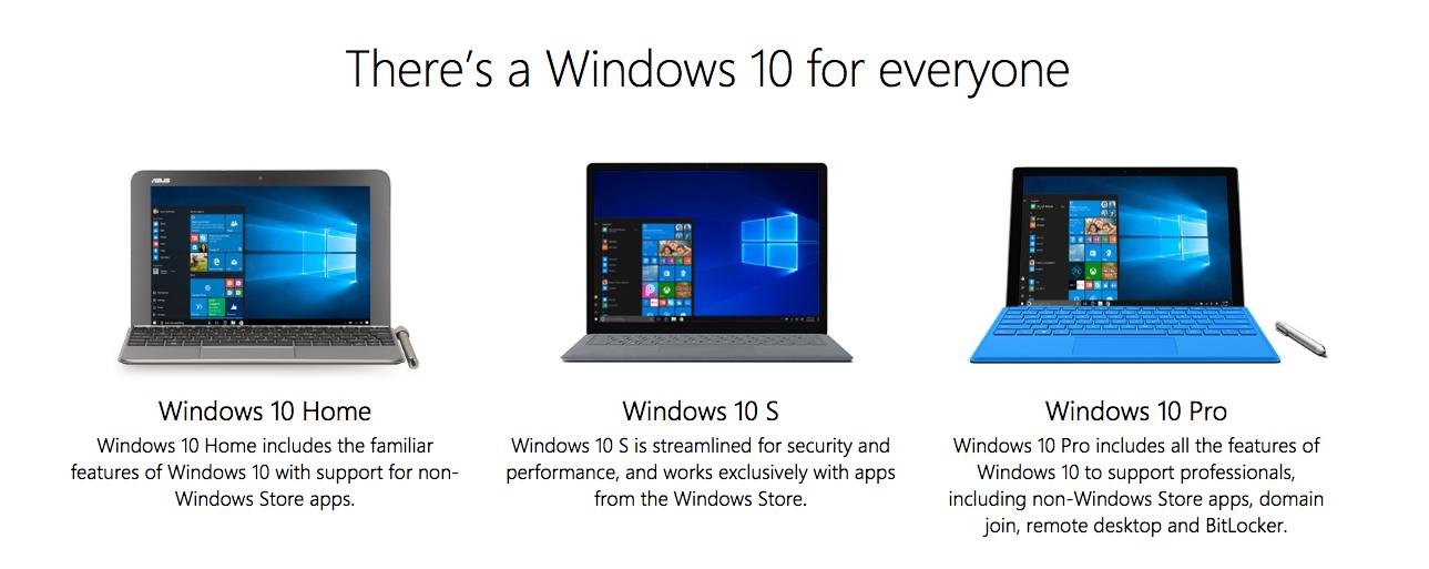 """Résultat de recherche d'images pour """"windows 10 s"""""""