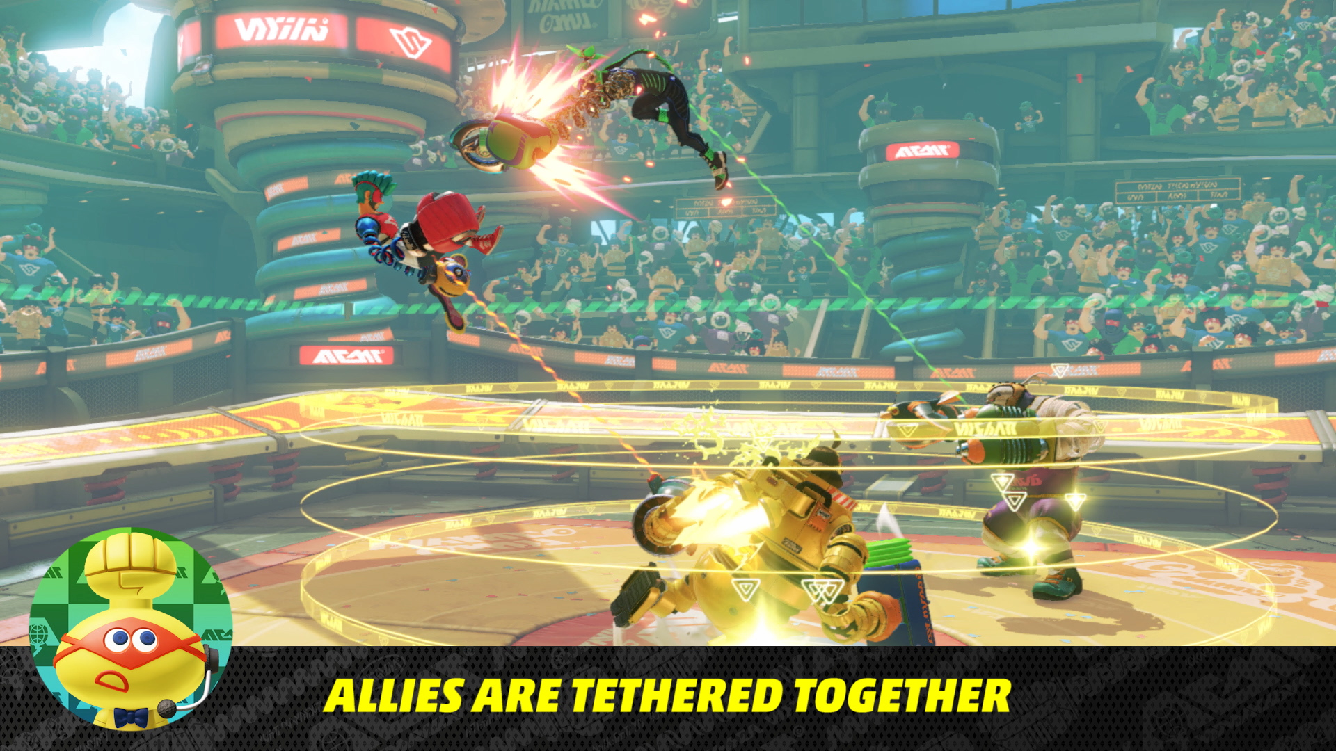 Nintendo Direct 5/17/17 - Arms allies tethered together
