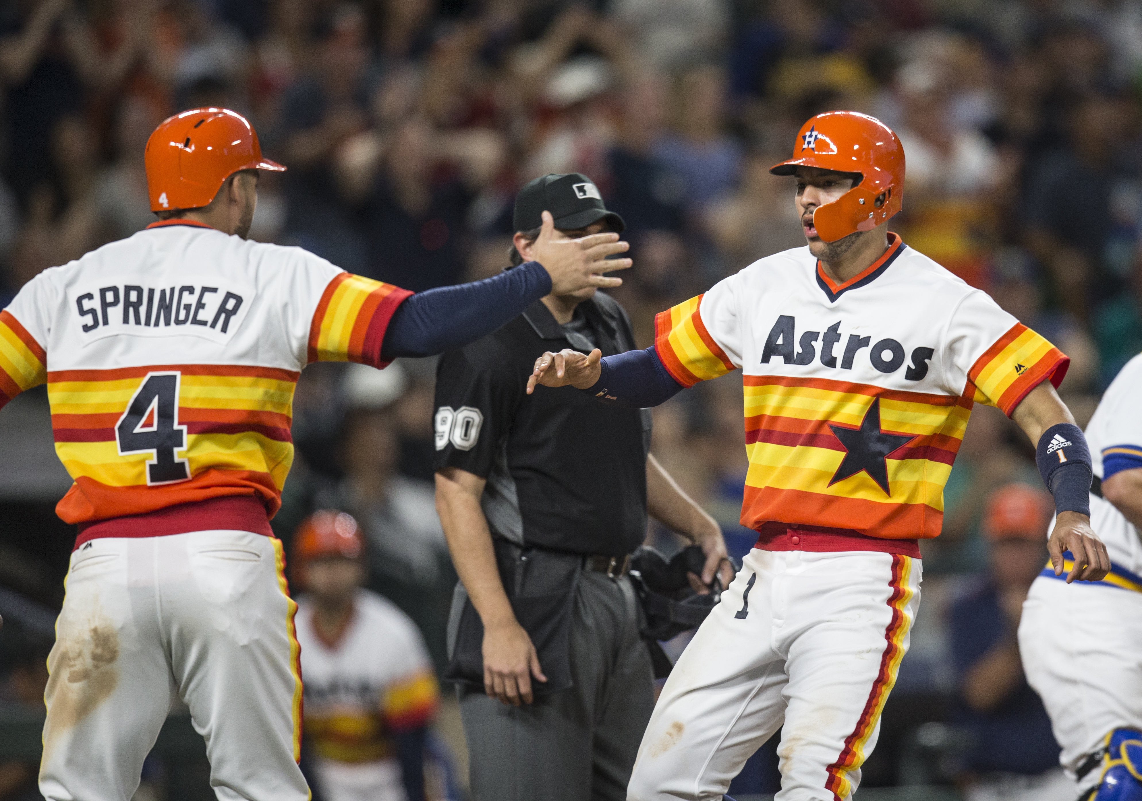 newest 6b96b 504a9 Astros wear throwback uniforms in Seattle - The Crawfish Boxes