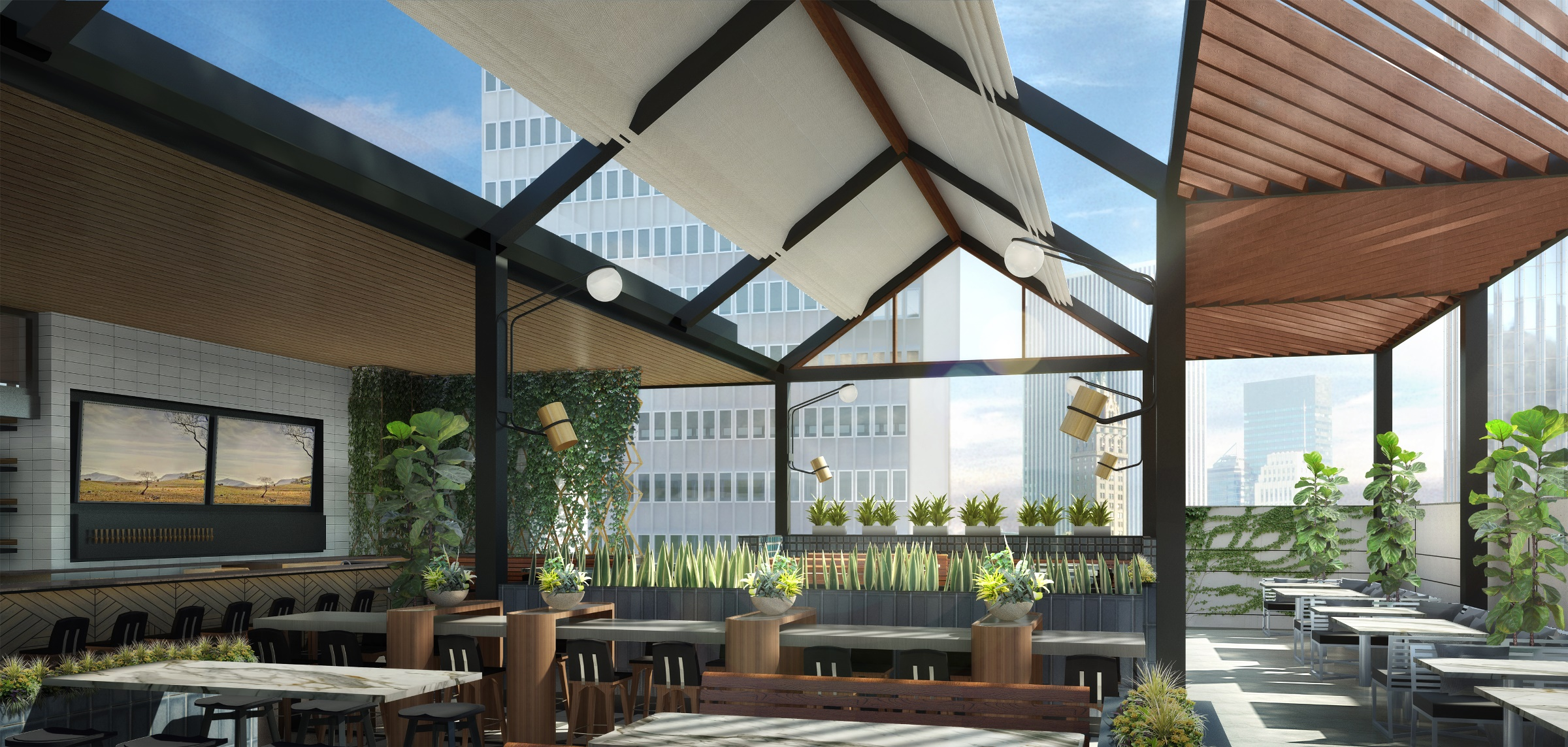the new earls at the pru will have a swanky rooftop eater boston