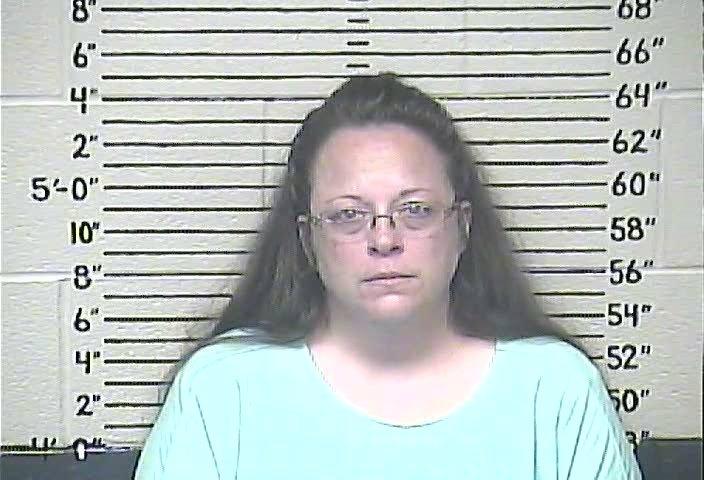 Rowan County, Kentucky, Clerk Kim Davis in a mugshot.