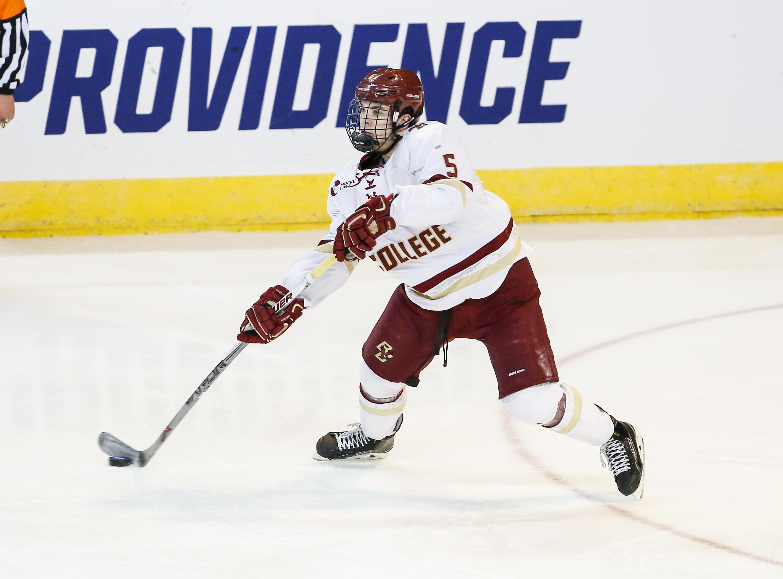 NCAA: Frozen Four - Rookie Defensemen Play Key Role For BC, Quinnipiac