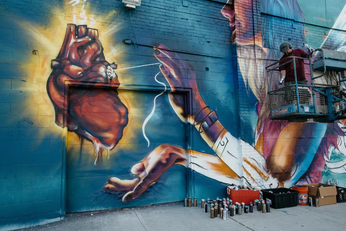 Detroit public art curbed detroit for Enjoy detroit mural