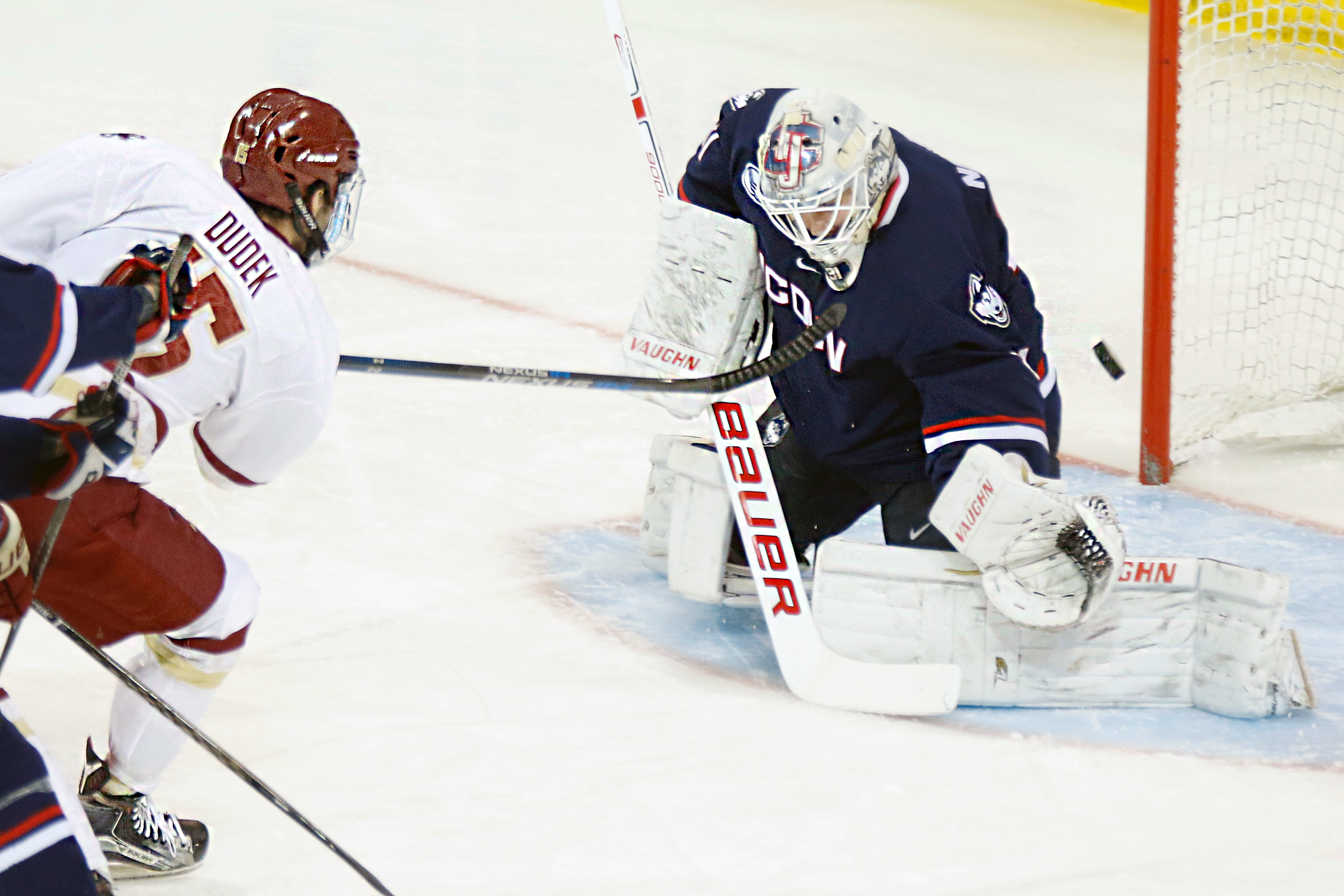Hockey East: Woll Leads BC Past UConn